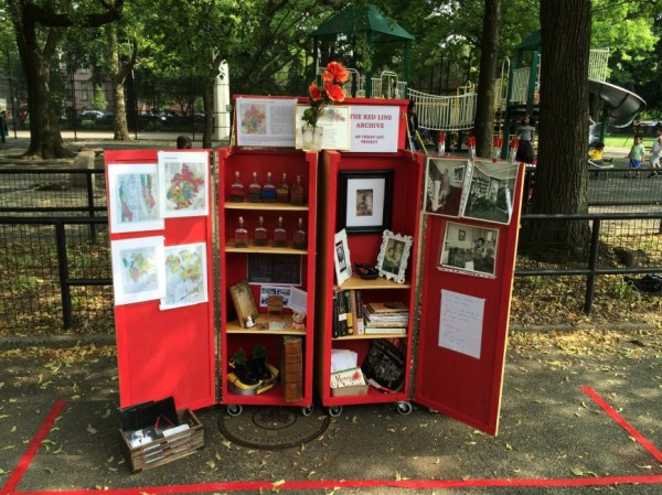 An artist participating in the upcoming Art in Odd Places festival, Walis Johnson, will have a mobile installation along 14th Street detailing how people of color faced discrimination in Stuyvesant Town and other areas. (Pictured) Some of the artifacts that go along with stories she's collected by doing interviews (Photo courtesy of Walis Johnson)