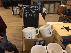 A set of Bill and Hillary Clinton mugs (though individual Hillary mugs were temporarily sold out)