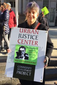 Urban Justice Center attorney and Stuyvesant Town resident Hillary Exter