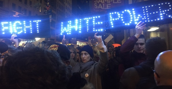 Protesters made their way to midtown, starting from Union Square. (Photos by Maria Rocha-Buschel)
