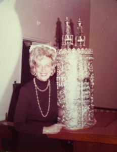 Florence Friedman, pictured in the late 1970s, stands beside a Torah.