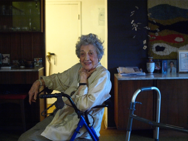 Peter Cooper Village resident Florence Friedman (Photo by Maria Rocha-Buschel)