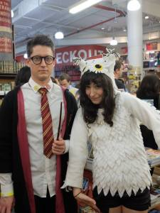 The Strand has an established Harry Potter fan base, judging by the 1,000 guests who showed up to an event in July. (Pictured) A Hogwarts wizard and an owl