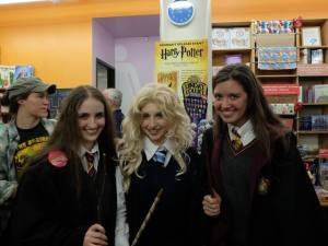 Guests in costume at a July Harry Potter book launch event at the Strand (Photos courtesy of the Strand)