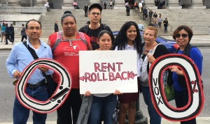 Tenants hold a rally protesting the lawsuit in September. (Photo by Sabina Mollot)