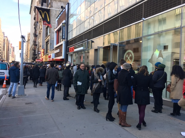 The line at VERTS earlier this afternoon (Photo by Sabina Mollot)