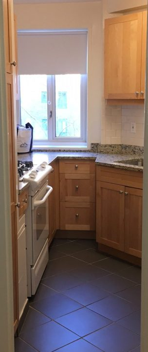 The renovated units have a dishwasher and light wood finishes on the cabinets. (Photos by Sabina Mollot)