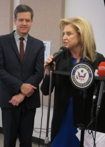 State Senator Brad Hoylman and Congresswoman Carolyn Maloney (Photo by Michelle Deal-Winfield)