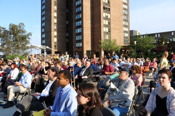 debate crowd town village co hosts city council debate at waterside plaza