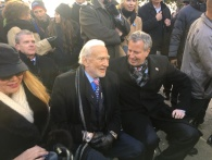 Colonel Buzz Aldrin with Mayor Bill de Blasio