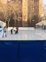 Ice skaters in Stuy Town