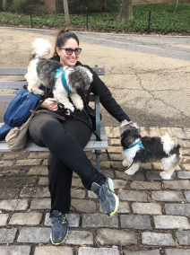 Patty Vega with her dogs