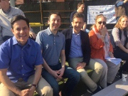 Former Council Member Dan Garodnick, Council Member Keith Powers, State Senator Brad Hoylman, Manhattan Borough Gale Brewer and Con Ed's Andrea Schmidt