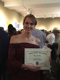 "ST photographer Kayla Rochelle with her ""best in show"" award"
