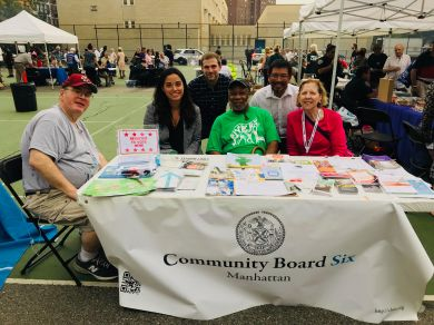 (Above) Council member Carlina Rivera with members of Community Board 6