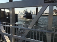 Ferry departs from Stuyvesant Cove