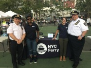 Representatives from NYC Ferry with auxiliary police officers