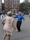 Assembly Member Harvey Epstein dancing with Michelle Deal Winfield of the Bellevue CAB