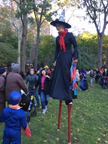 Stilt walker Brianna Kalish