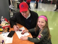 Noa Coren and her father Seth making buttons