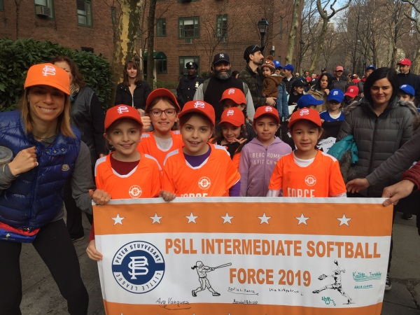 Peter Stuyvesant Little League players